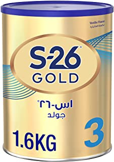 S26 GOLD 3 Stage 3, 1-3 Years Milk Powder for Toddlers Tin 1.6Kg