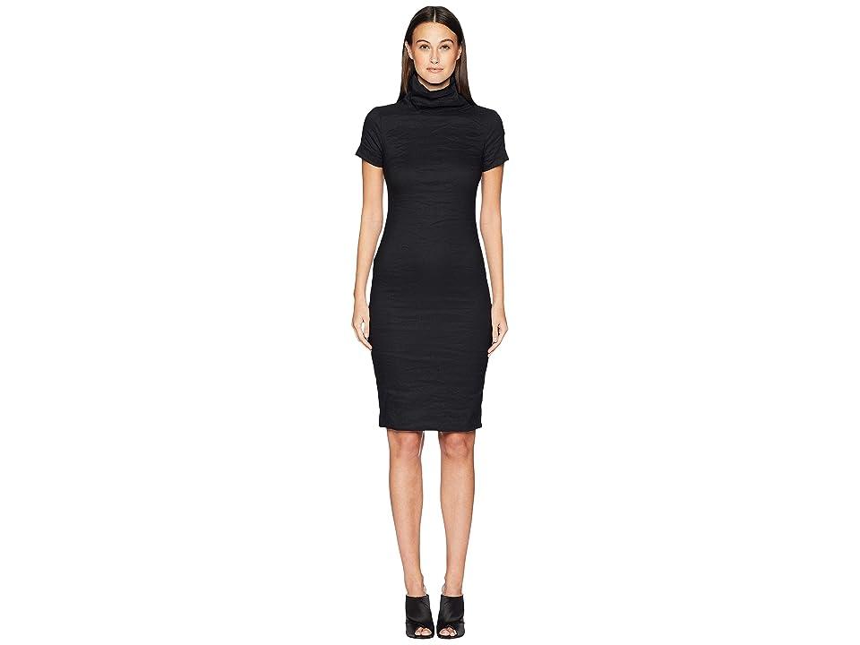 Nicole Miller High Neck Dress (Black) Women