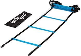 BodyGood Pro Athlete Grade Speed Agility Ladder – Extra-Long, 20 Foot Quick Ladder with Durable Flat Rungs for Easy Set Up and Consistent Workout. Includes Free Carrying Bag and Online Training Video