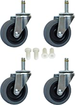 MySit 3 Inch Rubbermaid Cart Caster Replacement Wheels, Swivel Stem Caster, 7/16