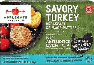Applegate, Natural Savory Turkey Breakfast Sausage Patties, 7oz (Frozen)
