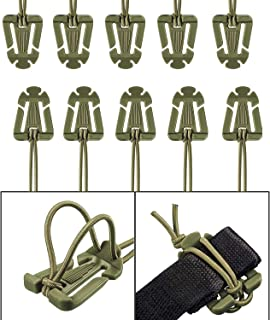 Web Dominator Buckle with Elastic String Durable Strap Management for Tactical Backpack (Pack of 10)