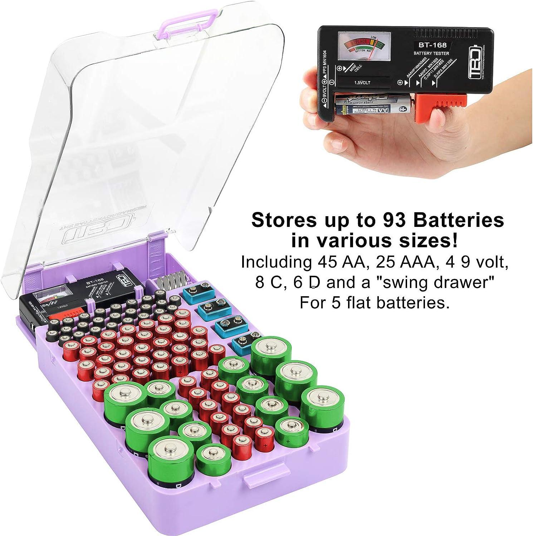 The Battery Organizer 7540 Storage Case Gray