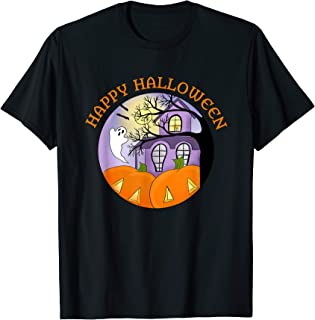 Happy Halloween Fun Haunted House Spooky T-Shirt