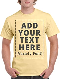 Sponsored Ad - Custom T-Shirts Personalized Message Add Your Text for Men & Women Unisex Cotton T-Shirt