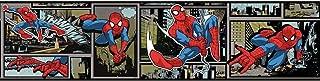 York Wallcoverings DY0252BD Disney Kids III Marvel Ultimate Spiderman Comic Border, Blacks