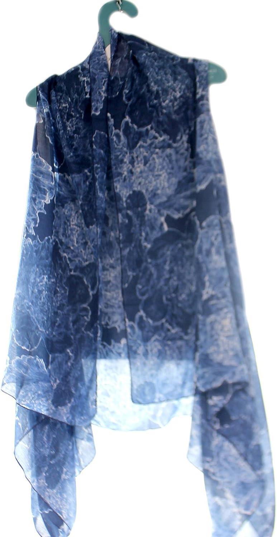 Apparel DS bluee Floral Scarf Vest Polyester Artist Series 1004250025