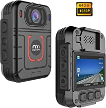 CammPro HD 1296P Police Body Camera, Night Vision Wearable Camera, Warning Lights and Alarm, Built-in 64GB Memory,Waterproof, Motion Detection, Loop Record for Law Enforcement, Security Guard