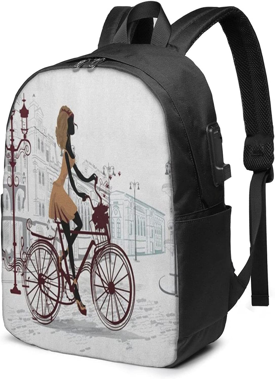 Columbus Mall EILANNA Usb Backpack Carry On Bags Young Inches 17 Girl In Paris Max 57% OFF