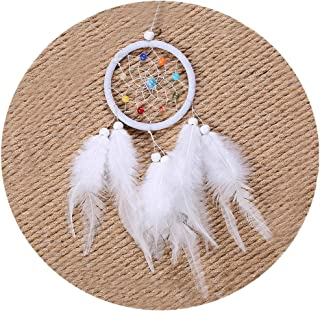 Tellpet Handmade Dream Catchers with Feather White