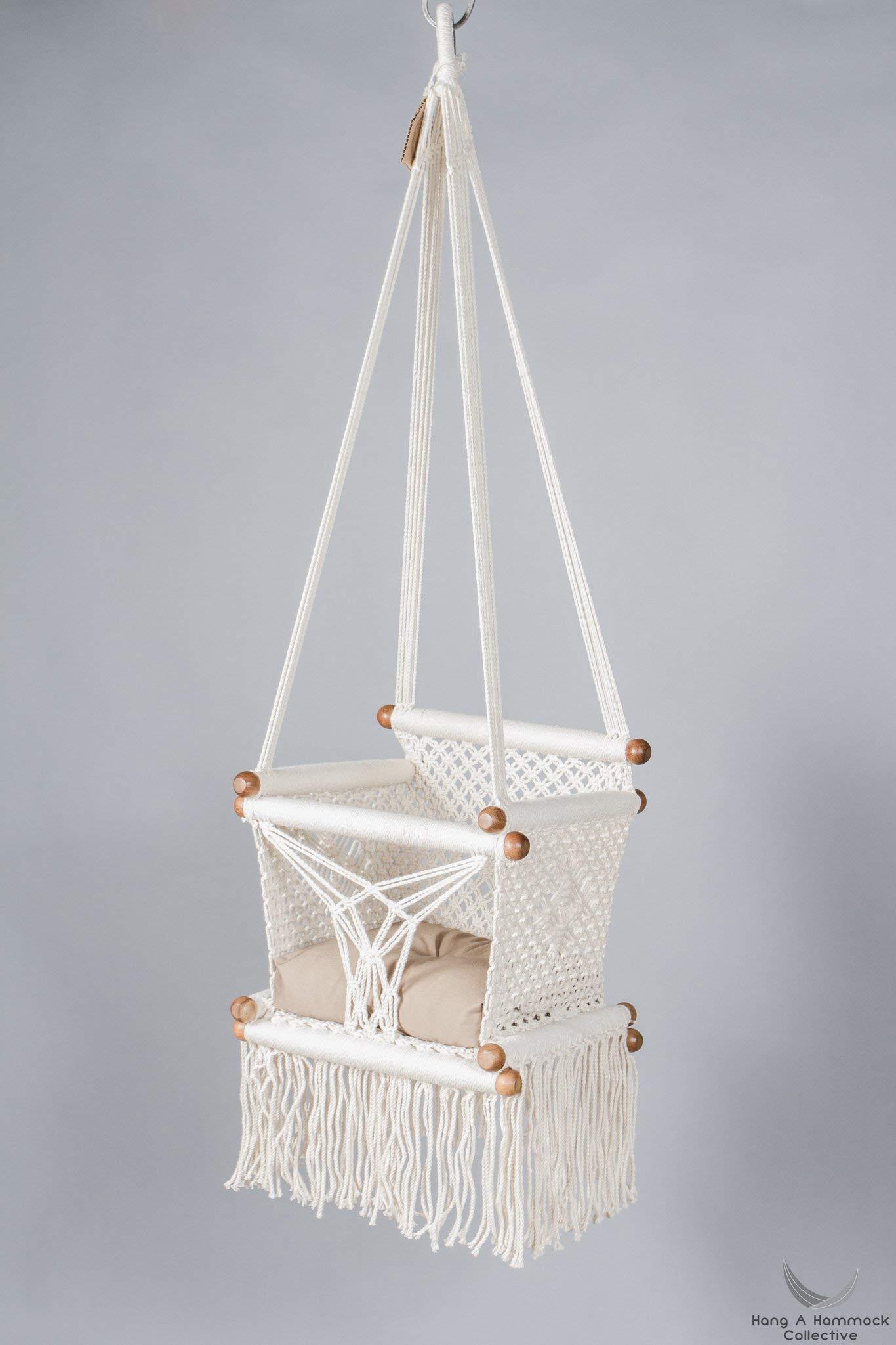 Baby Swing Chair In Cream Khaki Cushion Buy Online In Albania
