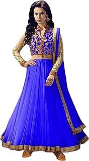 SAI FASHION Women's Silk Embroidered Semi-Stitched Salwar Suit(free size), (Mix Colour)