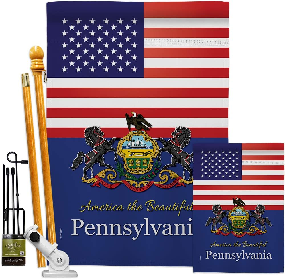 States US Sale SALE% OFF Pennsylvania Garden House Flags Regional Kit Limited price Ameri USA