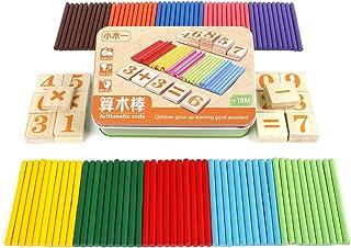 TOYMYTOY Juguetes Educativos Juegos Matematicos para Niños Número Madera y Palillos con Caja