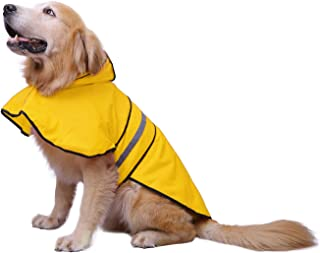 HDE Dog Raincoat Hooded Slicker Poncho for Small to X-Large Dogs and Puppies