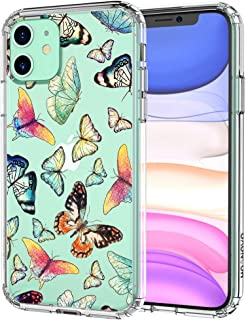 MOSNOVO iPhone 11 Case, Butterfly Pattern Clear Design Transparent Plastic Hard Back Case with TPU Bumper Protective Case Cover for Apple iPhone 11 (2019)