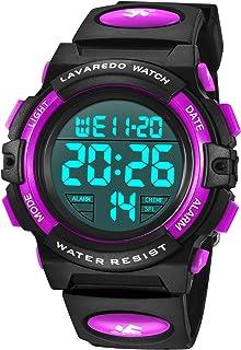 Orologi per bambini, ragazzi, ragazzi e adolescenti digitale, orologio sportivo multifunzione, impermeabile, digitale, con...