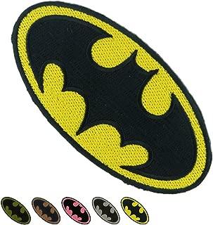 LiZMS Iron Sew on Applique Patch : Batman Super Hero (Yellow)
