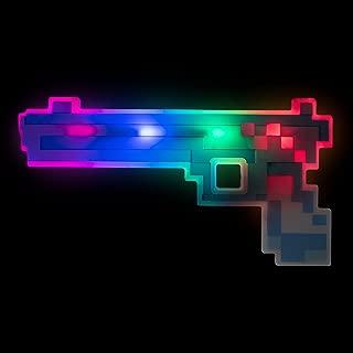 Windy City Novelties LED Light Up Pixel Toy Gun for Boys and Girls - Blue/Red - 8 Bit Pistol