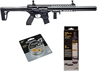 SIG Sauer MCX .177 Cal CO2 Powered Advanced Air Rifle with CO2 90 Gram (2 Pack) and 500 Lead Pellets Bundle