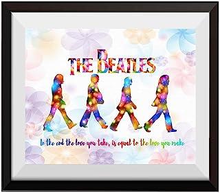 30×50×3cm Beatles Graffiti Canvas Print Framed Wall Art Home Decor Painting Gift