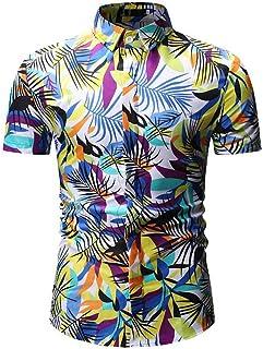 Xmiral Camicia da Uomo Camicia Slim Fit Camicia da Uomo #1605