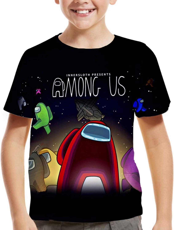 Among Us Shirt for Big Kids Boys Girls,Back to School Short Medium-Large, A