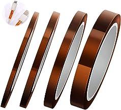 4 Stukken Polyimide-Plakband Op Hoge Temperatuur Hittebestendige Tape Polyimide-Afplaktape Speciaal Elektronisch Materiaal...