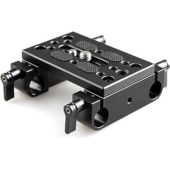 SMALLRIG 汎用マウントプレート(レールブロック付き) カメラケージスライドプレート、15mmレールシステムを接続可能DSLR 装備 DSLR Rigs DSLRリグ-1775 [並行輸入品]