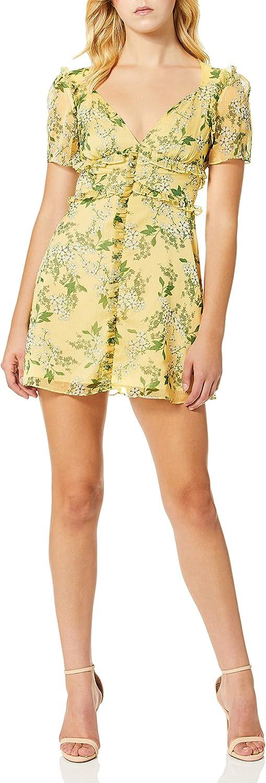 Keepsake The Label Women's Luscious Short Sleeve Ruffle Trim Mini Dress