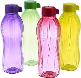 Tupperware Eco Sports 1 Litre Aqua Safe Water Bottle ( Set of 4) 32 Oz
