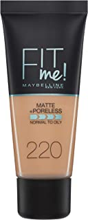 Maybelline New York Fit Me Matte & Poreless Foundation 220 Natural Beige 30ml