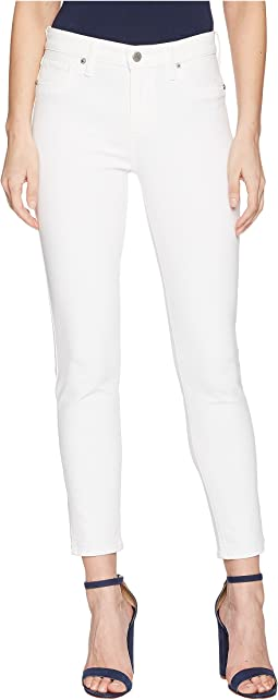 Ava Skinny Jeans with Slit in Clean White