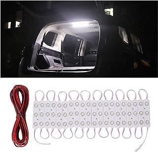 Thlevel 60 LED Auto Innenbeleuchtung DC 12V Leuchtet Lichtleiste mit Verlängerungskabel für Wohnmobl LKW Van Bus Boot Caravan Wohnmobil Kleiderschrank