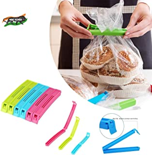 VR 18 Pcs - 3 Different Size Plastic Food Snack Bag Pouch Clip Sealer Large, Medium, Small Plastic Snack Seal Sealing Bag ...
