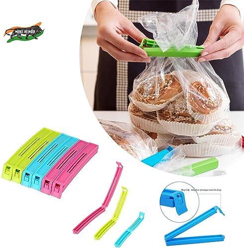 VR 18 Pcs 3 Different Size Plastic Food Snack Bag Pouch Clip Sealer Large Medium Small Plastic Snack Seal Sealing Bag Clips Vacuum Sealer Set Of 18 Multicolor