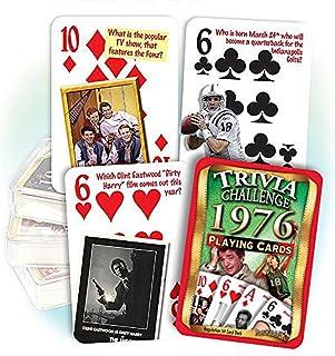 Flickback Media 1976 Trivia Challenge Playing Cards: Birthday Gift