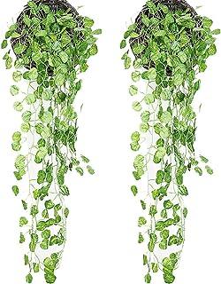 XONOR Plantas Artificiales Colgantes Hojas - 2 manojos
