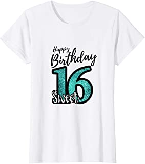 sweet 16 t shirt party favors