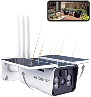 2021 Nueva Versión Koogeek Camara Vigilancia WiFi Exterior IP67,Camara de Vigilancia Exterior 1080P,Ángulo de Visión Ampli...