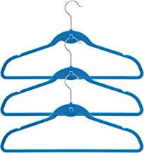 BriaUSA Cascade Hangers Blue Steel Swivel Hooks -Slim, Sturdy Saves You Extra Space - Box of 20