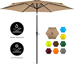 Best Choice Products 10ft Outdoor Steel Polyester Market Patio Umbrella w/Crank, Easy Push Button, Tilt, Table Compatible,...