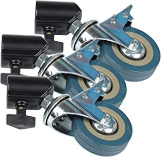 Gaoominy 3PCS 22mm Photo Studio Heavy Duty Universal Caster Wheel for Light Stands&Studio Boom Photo Studio Accessories