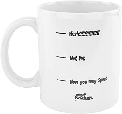 Fairly Odd Novelties FON-20032-001-001 Hush Funny Coffee Mug, White, 11 Ounce,