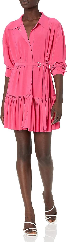 Norma Kamali Women's Oversized Boyfriend Nk Shirt W/Ruffle Bottom