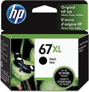 Original HP 67XL Black High-yield Ink Cartridge | Works with HP DeskJet 1255, 2700, 4100 Series, HP ENVY 6000, 6400 Series...