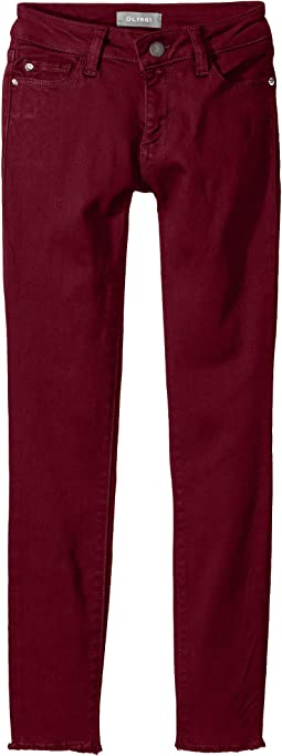 Chloe Skinny with Step Hem Adjustable Waist Band and Snap Button in Very Berry (Toddler/Little Kids)