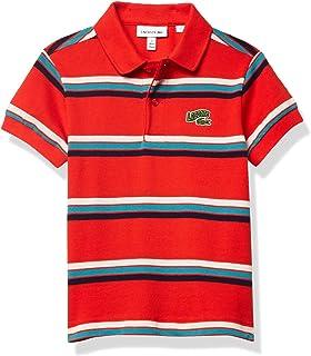 Lacoste Boys' Striped Summer Badge Pique Polo Shirt