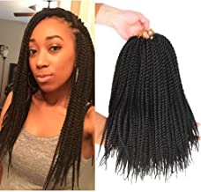 AliRobam 6Packs 14inch Havana Twist Crochet Braids 30strands/Pack Synthetic Kanekalon Ombre Crochet Braid Braiding Hair Extensions (14inch, 1B)