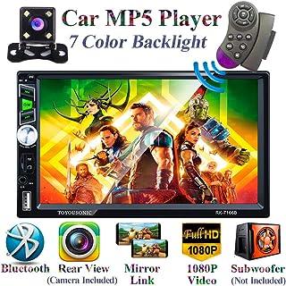 Honboom Autoradio Bluetooth 2 DIN Stéréo de Voiture écran Tactile HD de 7 Pouces avec..
